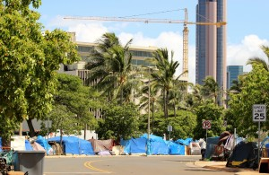 Homeless Camp in O'ahu